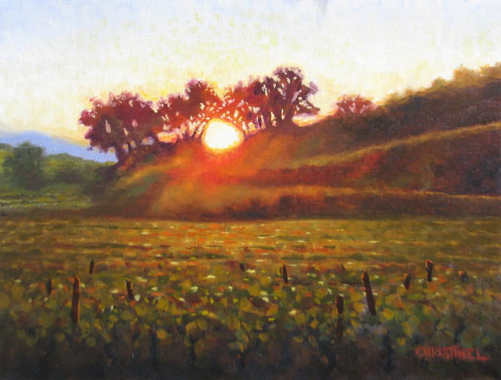 Painting of a sunrise
