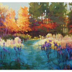 Painting of autumn frost