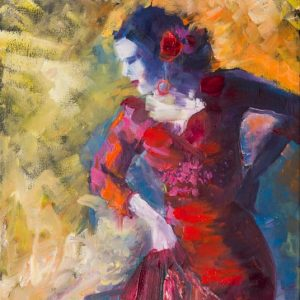 Dancer - painting of a Flamenco Dancer by Aleksandra Kalinic