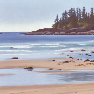 Tofino landscape painting by Lisa Riehl