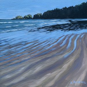 Little gem seascape, lines in the sand, Florencia Bay Vancouver Island