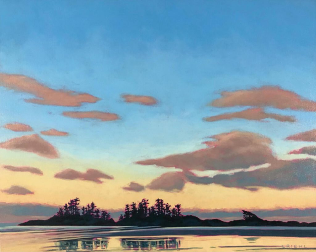 Painting of Tofino seascape at sunset
