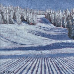 Painting of snow scene at Mount Washington, Vancouver Island