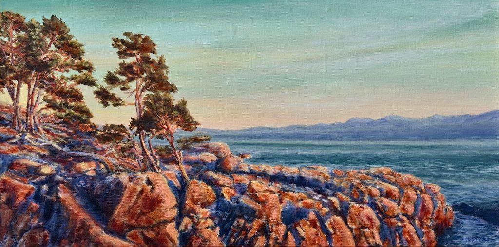 East Sooke Park, Coastal Landscape painting by Vedrana Ascroft