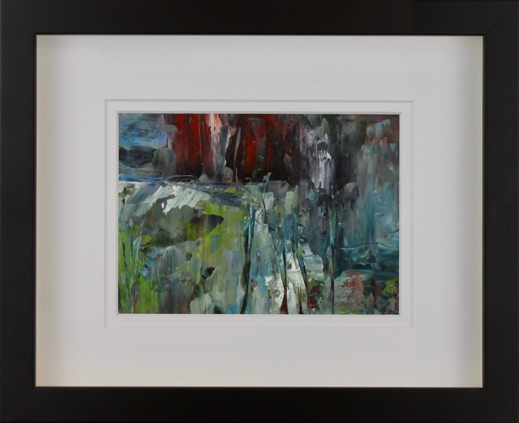 Abstracted Cold Wax Mixed Media impressionist painting