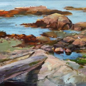 Cattle Point_John Stuart Pryce_ 11 x 14 plein-air Oil