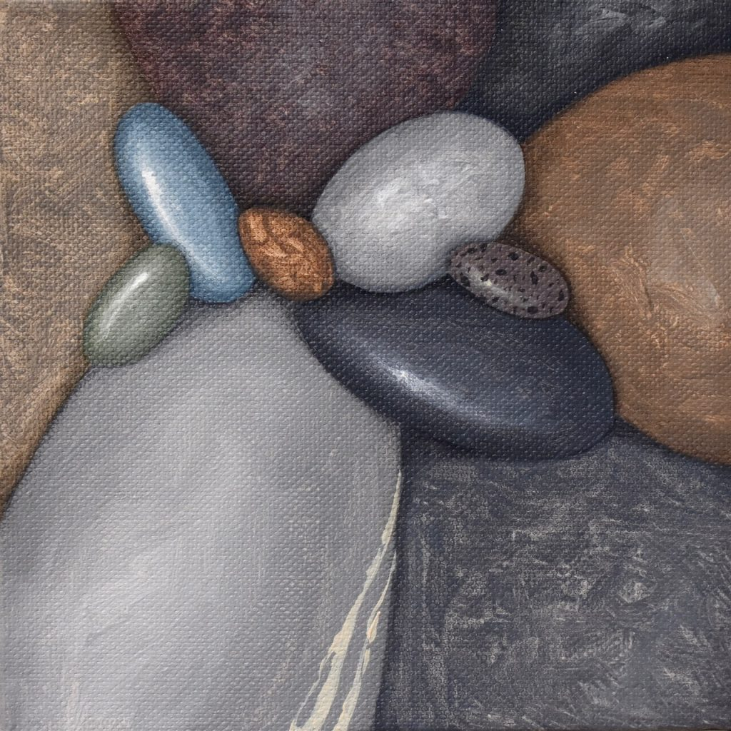 Small Pebbles Painting 556 _Kristina Boardman