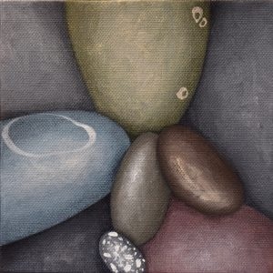 Small Pebbles Painting 558_Kristina Boardman