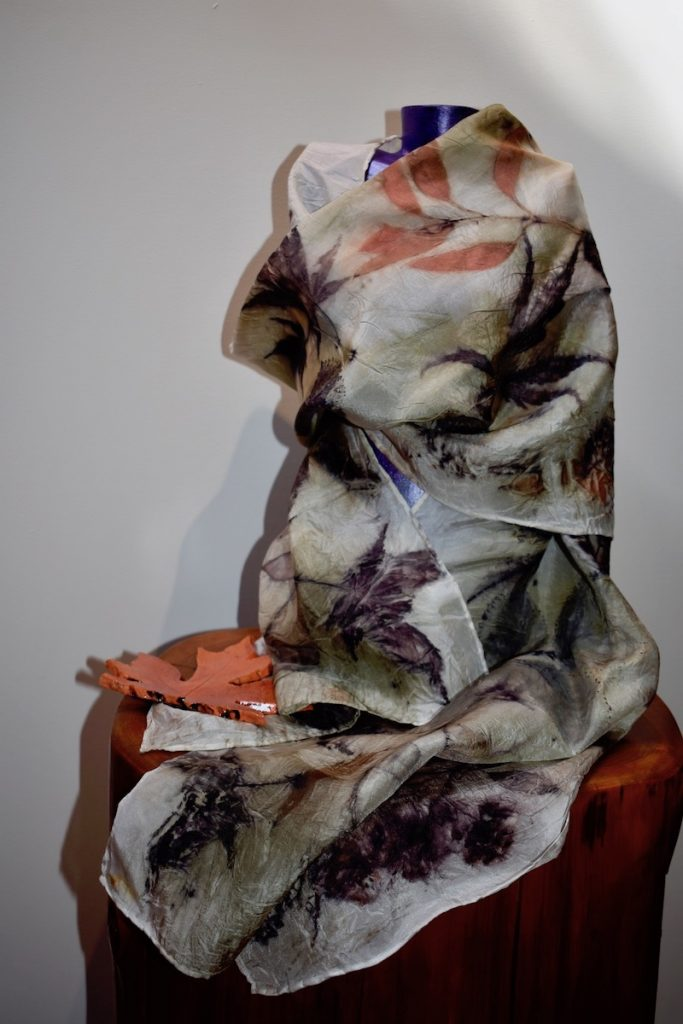 One-Of-A-Kind Silk Scarf, created with natural dyes from plants and roots