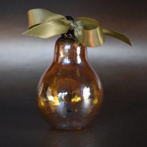 Golden Pear Handblown Glass Ornament