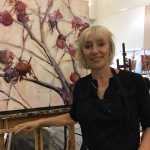 Artist Susie Cipolla in her studio